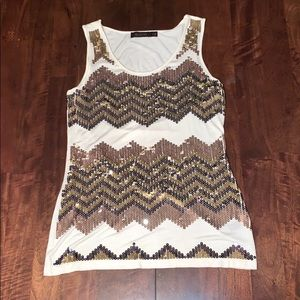 The Limited Sequins Tank Top